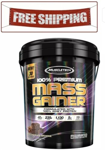 MuscleTech 100% Premium Mass Gainer, Triple Chocolate Browni