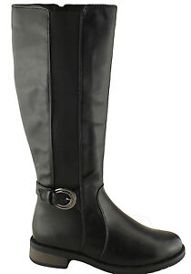 GROSBY-PAYTIN-WOMENS-LADIES-KNEE-HIGH-BOOTS-RIDING-BOOTS-WIDE-CALF-BOOTS-SHOES