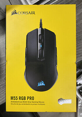 CORSAIR M55 RGB PRO Wired Multi-Grip Optical Gaming Mouse ,Black