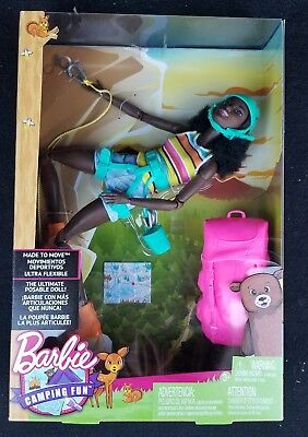 Made To Move Barbie Camping Fun AA African American Hiker Climber Walmart Rare