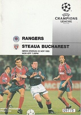 RANGERS v STEAUA BUCHAREST.Champions League Group C 1995/96