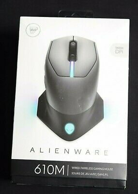 Alienware Wired/Wireless Gaming Mouse AW610M: 16000 DPI, Dark