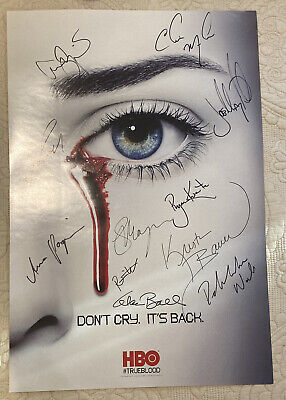 SDCC 2012 True Blood Signed Poster