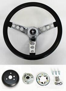 c9e41e6347f493 1970 - 1973 Mustang Black Steering Wheel Grant 13 1/2