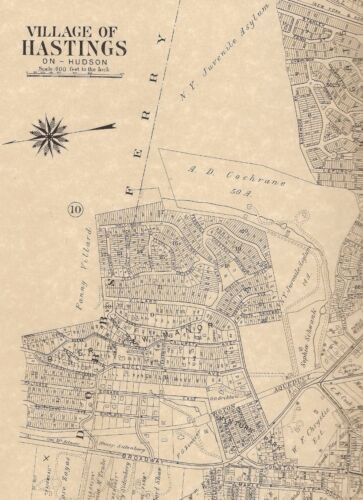 Hastings-on-Hudson NY 1911 Maps with Landowners Names Shown