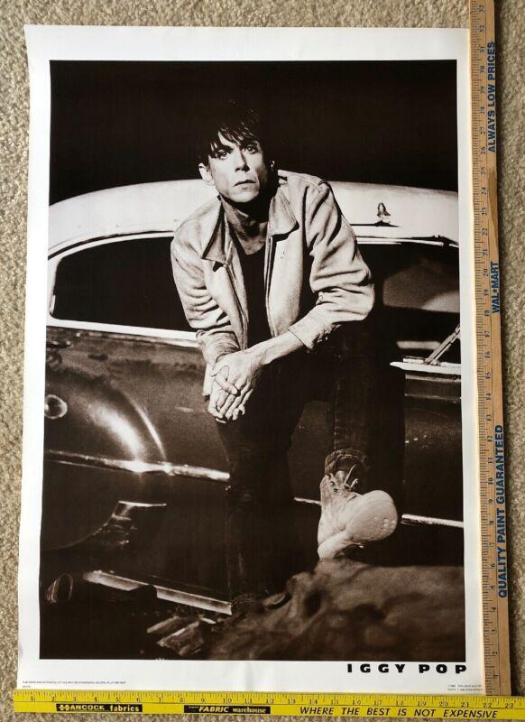 "Vintage Iggy Pop The Stooges 1986 Poster 22"" x 32"""