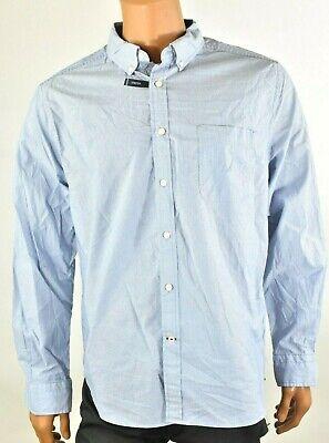 Nautica Mens Shirt New XL Light Blue Pin Stripe Classic Fit Stretch Button up