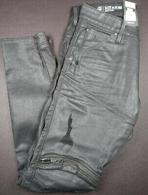 G-STAR RAW 5620 3D Zip Knee Distressed Slim Cobler Restored Jeans Pants 32x30