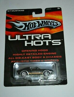 HOT WHEELS ULTRA HOTS -'67 MUSTANG BLACK WITH REAL RIDERS