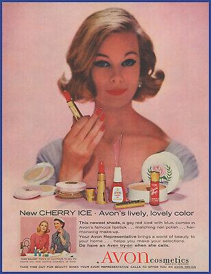 Vintage 1959 AVON Cosmetics Lipstick Nail Polish Beauty Ephemera 50's Print Ad