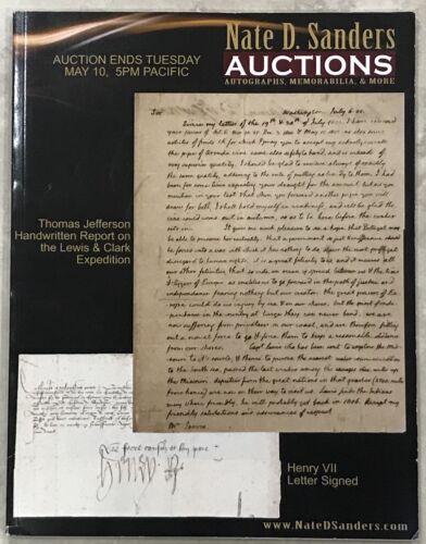 NATE SANDERS 2011 AUCTION CATALOG  HISTORICAL, ENTERTAINMENT, SPORTS PLUS