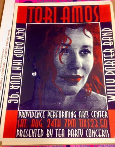 TORI AMOS DEW DROP INN 1996 ORIGINAL SCREENPRINT TOUR POSTER SIGNED/NUMBERED OOP