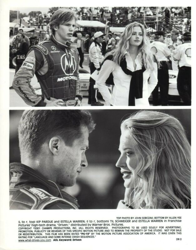 Driven (Kip Purdue / Estella Warren)  8x10 black & white still #DR-2R