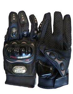 NEW! Carbon Fiber Pro-Biker Bike Motorcycle Motorbike Racing Gloves Full Large