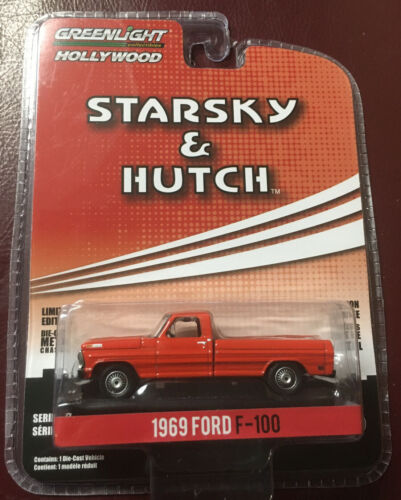 GREENLIGHT 1969 FORD F-100 PICKUP STARSKY & HUTCH 1/64 SCALE DIORAMA