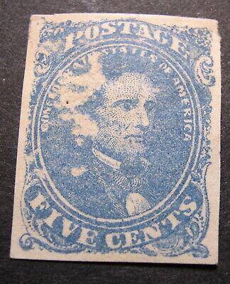 US 1862 Confederate Stamps Scott 4 mint OG  Obverse rub CV $225 JZ