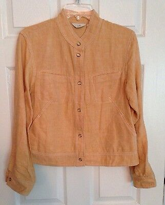 J Jill Jacket Orange Size Medium Linen Cotton EUC