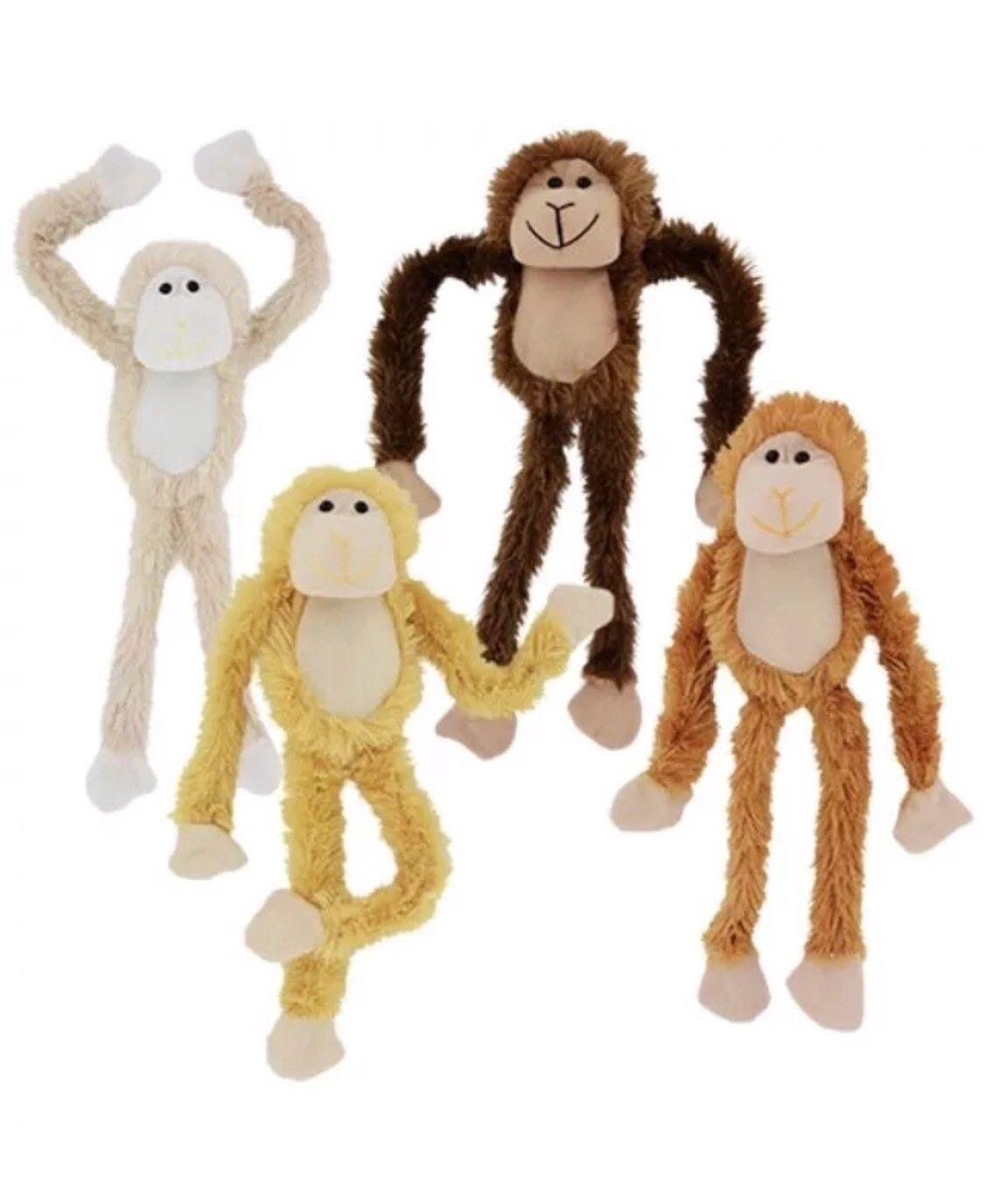 "All 4 Four 18"" Plush Hanging Monkeys Stuffed Animal Monkey Soft ... 5dcde402e"