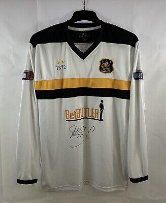 Dumbarton Matchworn Signed L/S Home Football Shirt 2012/14 (XL) 1872 E803 image