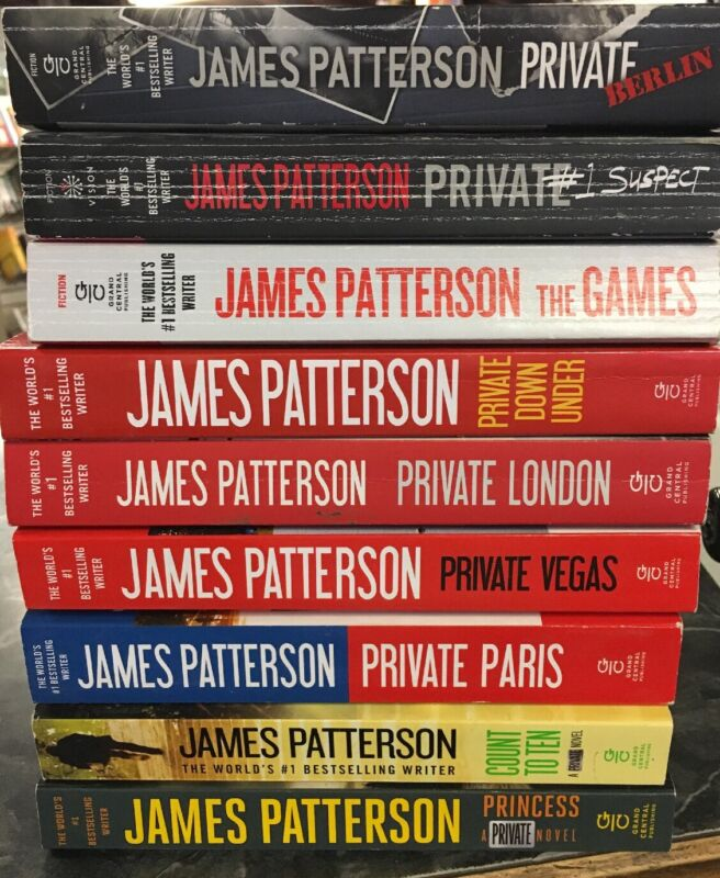 Lot Of 9 Paperbacks From The Private Series By James Patterson
