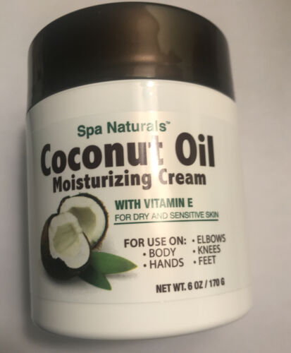 6 Oz Coconut Oil Moisturizing Cream Vitamin E For Dry Sensit