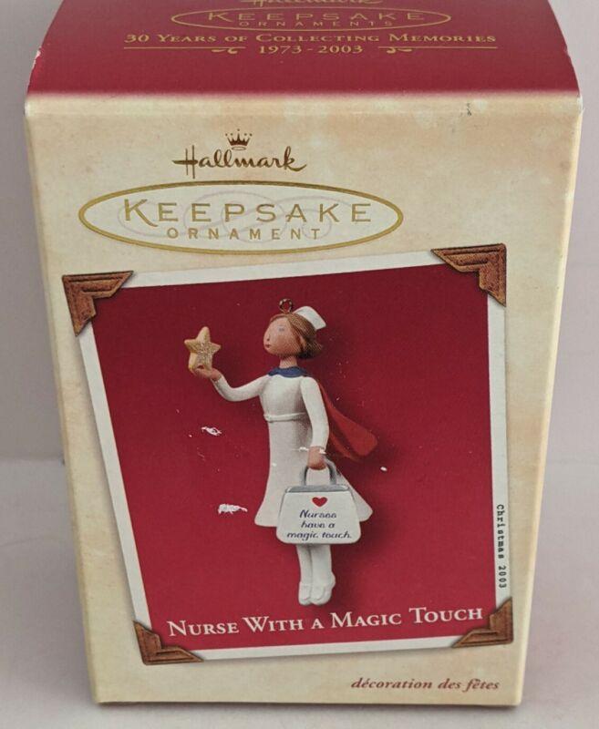 Nurse With A Magic Touch 2003 Hallmark Keepsake Ornament NIB