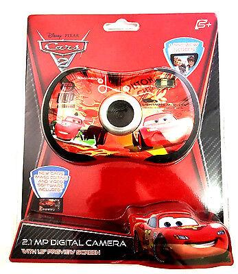 """Disney Pixar Cars 2 Digital 2.1mp Camera 1.5"""" Lcd Preview..."""