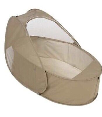 'Samsonite' pop-up travel cot. Bassinet. With mattress. Compact. Approx 0-6m.