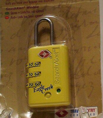 NEW EAGLE CREEK TSA SECURE LOCK - INDICATOR - 3 DIAL COMBO - YELLOW EC-41027078 ()