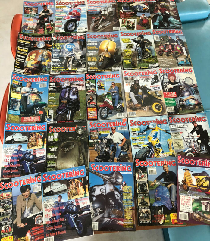 Lot of 25 Vintage Scootering Magazines