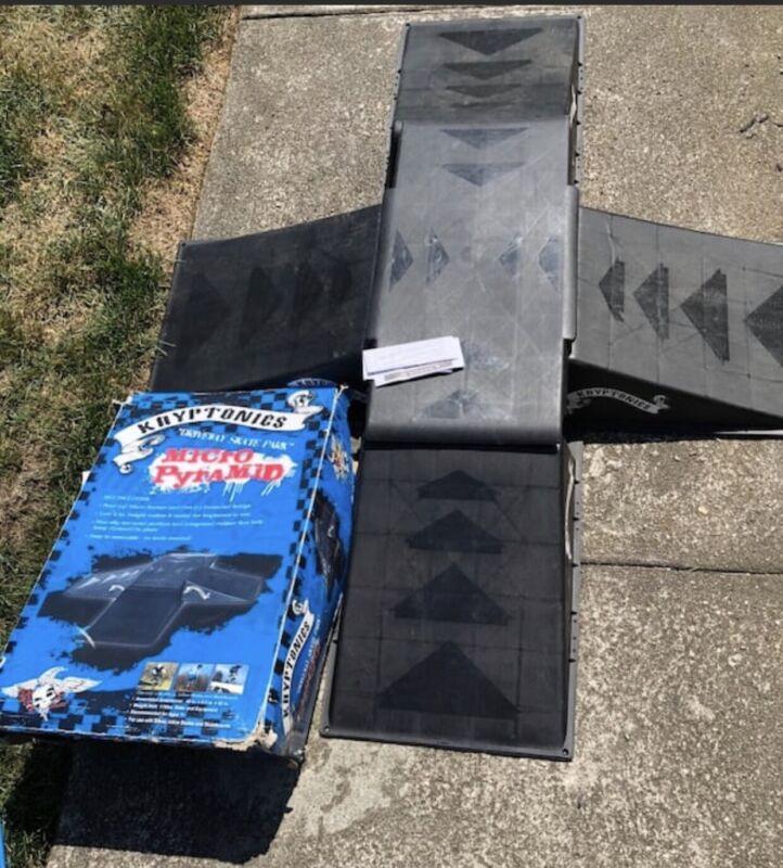 Kryptonics Micro Pyramid Ramps For Skateboard Bike Rollerblades LOCAL PICK UP