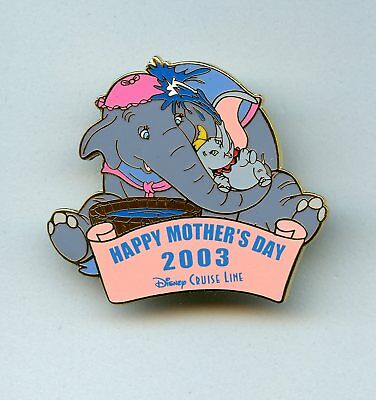 DCL Disney Cruise Line Mother's Day Mrs. Jumbo & Dumbo Elephant LE 500 Pin