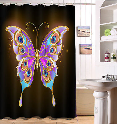 Waterproof Fabric Fairy Butterfly 180CM Shower Curtain Polyester Panels Bathroom](Butterfly Bathroom)