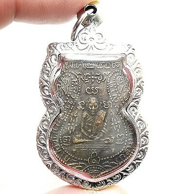 LP KLAN 2469 COIN PENDANT THAI POWERFUL BUDDHA AMULET PROTECTION LUCKY SUCCESS