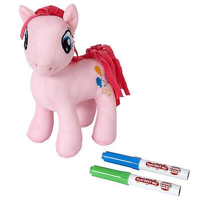 Brand New My Little Pony 20cm Scribble Me PINKIE PIE Soft Toy