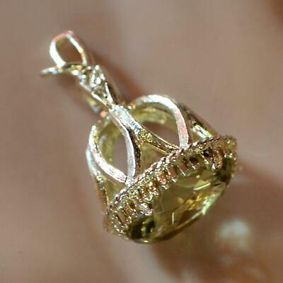 9 ct GOLD second hand citrine fob charm