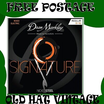 Dean Markley 2503 NickelSteel Signature Electric strings 10-46 Nickel Steel