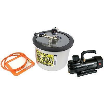 Svac 3 Gallon Ss304 Wide Vacuum Chamber And Bvv130 3cfm 1-stage Vacuum Pump Kit