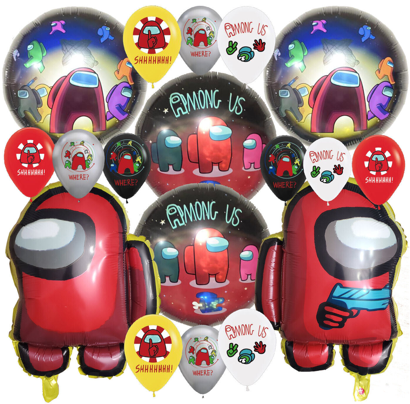 AMONG US balloon Cupcake Topper Birthday Party Decoration Su