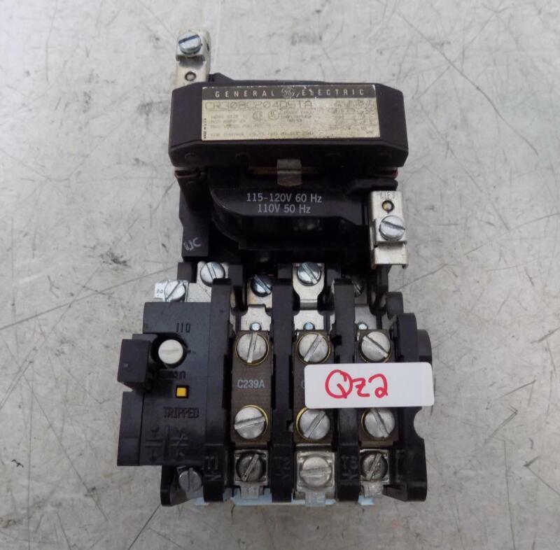 GENERAL ELECTRIC NEMA SIZE 1 27A MOTOR STARTER CR308C204D5TA