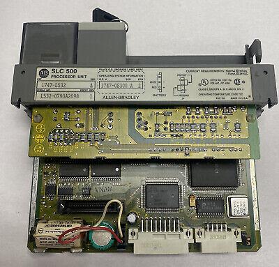 Allen-bradley 1747-l532 Processor Unit 1747-0s300 Ser A Frn 2 Broken Door