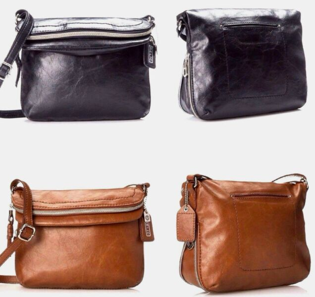 Relic by Fossil Women's Cross Body Messenger Bag Black,Brown Expandable Purse