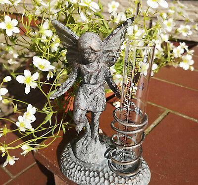 Regenmesser Elfe schweres Metall Guß Gußeisen Niederschlagsmesser Garten