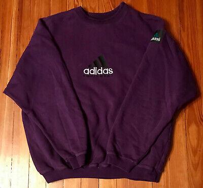 Vintage Adidas Equipment EQT Logo Purple Crewneck Sweatshirt Sweater Rare '90s M