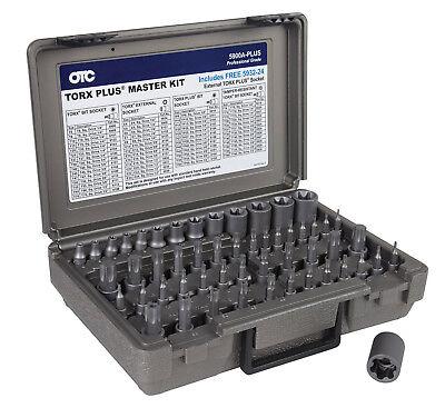 OTC 53pc  Master Torx, Plus, E-Torx & Tamper Proof S2 Bit Socket Set #5900A-PLUS - Otc Torx Socket Set