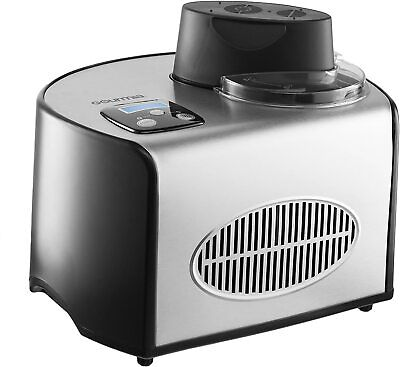 Gourmia Automatic Ice Cream Maker Stainless Steel 1.6 Qt - Built-In Compressor
