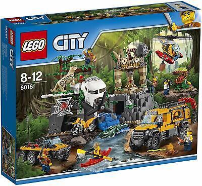 60161 LEGO CITY SITO DI ESPLORAZIONE NELLA GIUNGLA 813 PEZZI 8-12 ANNI SIGILLATO