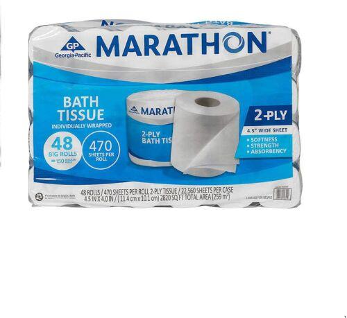 Marathon 2-Ply Bath Tissue 48 ct 470 Sheets
