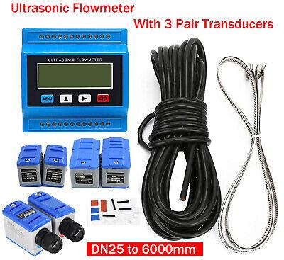 Module Type Ultrasonic Flow Meter Liquid Flowmeter 3 Pair Transducer Dn25-6000mm