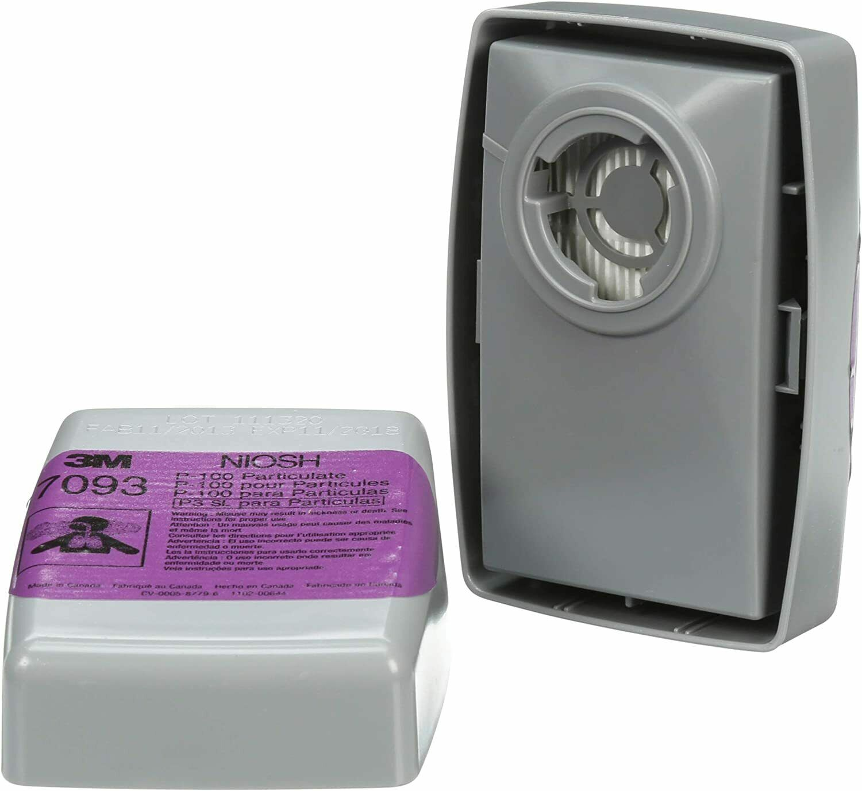 3M 7093 P100 Replacement Respirator Cartridge/Filter 1 Pair, EXP. Date 12/2025 Business & Industrial